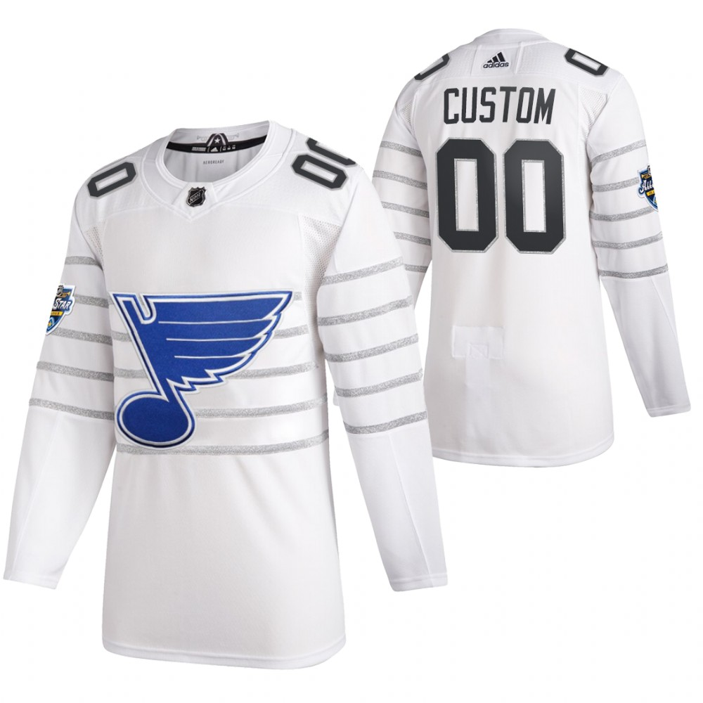 Blues Customized White 2020 NHL All-Star Game Adidas Jersey