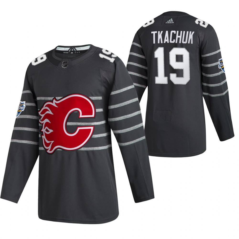 Flames 19 Matthew Tkachuk Gray 2020 NHL All-Star Game Adidas Jersey