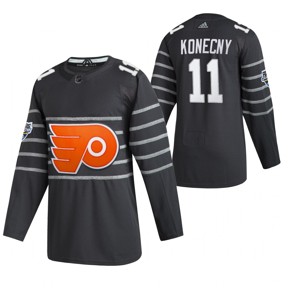 Flyers 11 Travis Konecny Gray 2020 NHL All-Star Game Adidas Jersey