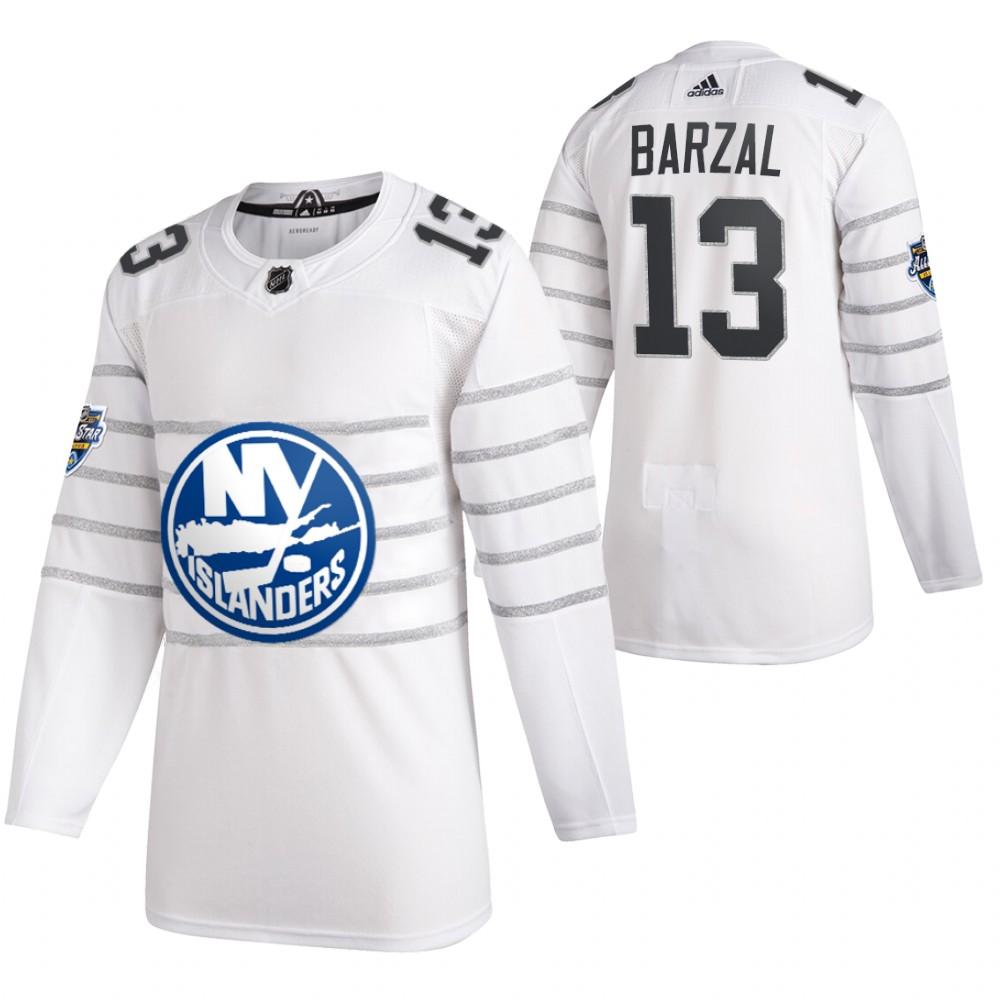 Islanders 13 Mathew Barzal White 2020 NHL All-Star Game Adidas Jersey