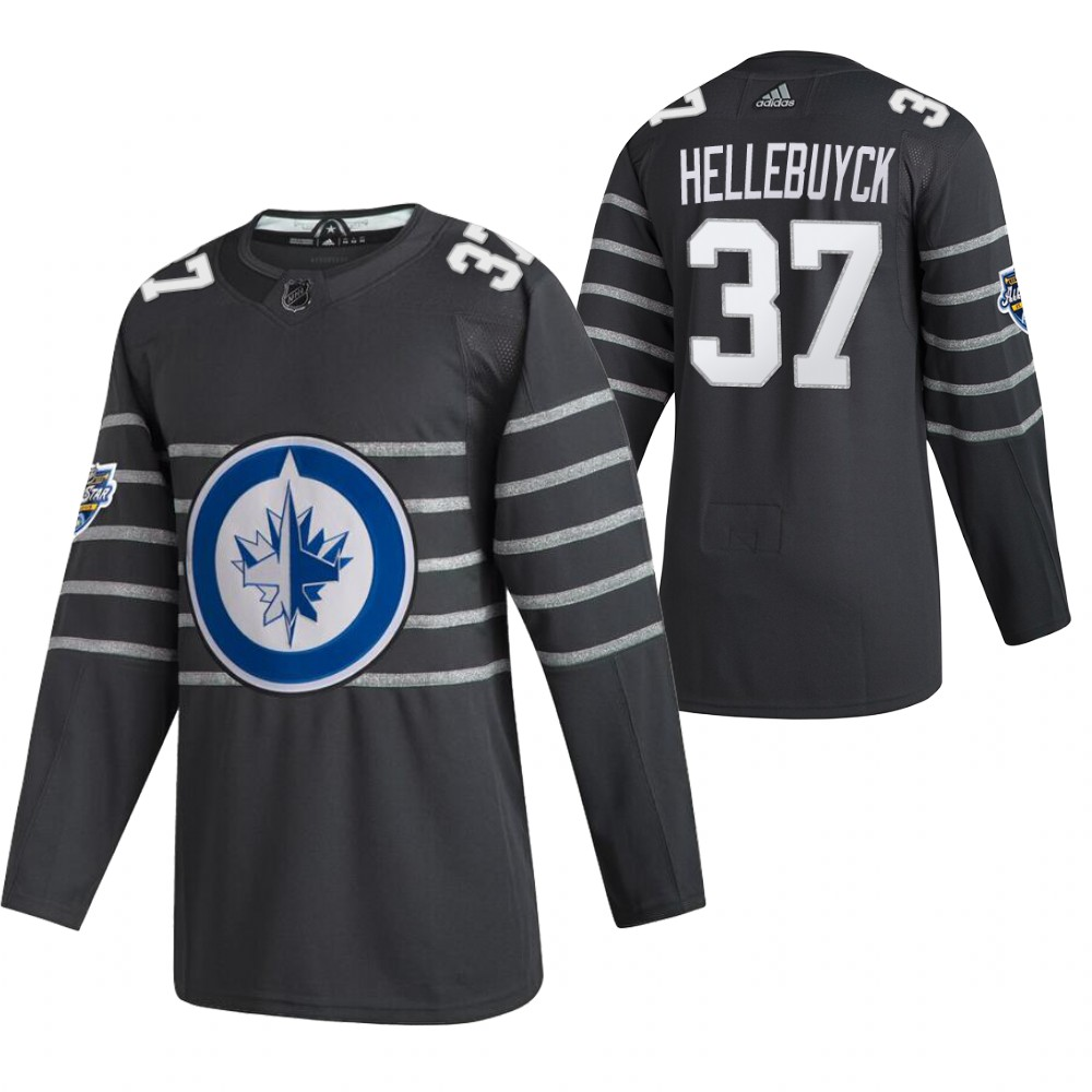Jets 37 Connor Hellebuyck Gray 2020 NHL All-Star Game Adidas Jersey