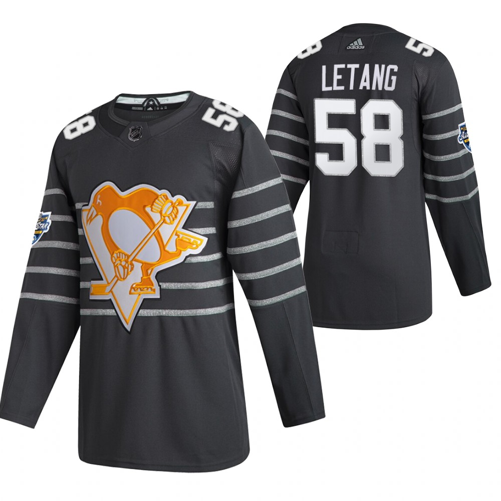 Penguins 58 Kris Letang Gray 2020 NHL All-Star Game Adidas Jersey