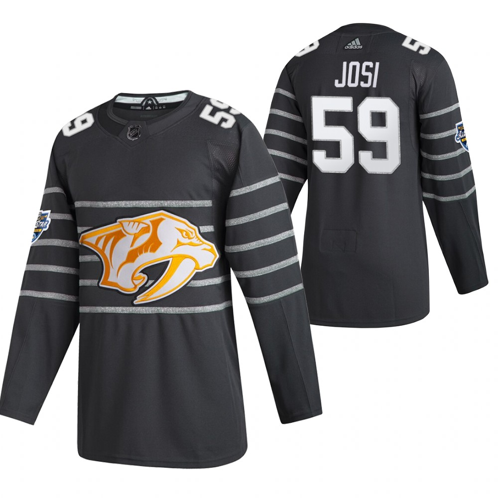 Predators 59 Roman Josi Gray 2020 NHL All-Star Game Adidas Jersey