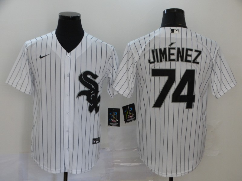 White Sox 74 Eloy Jimenez White 2020 Nike Cool Base Jersey