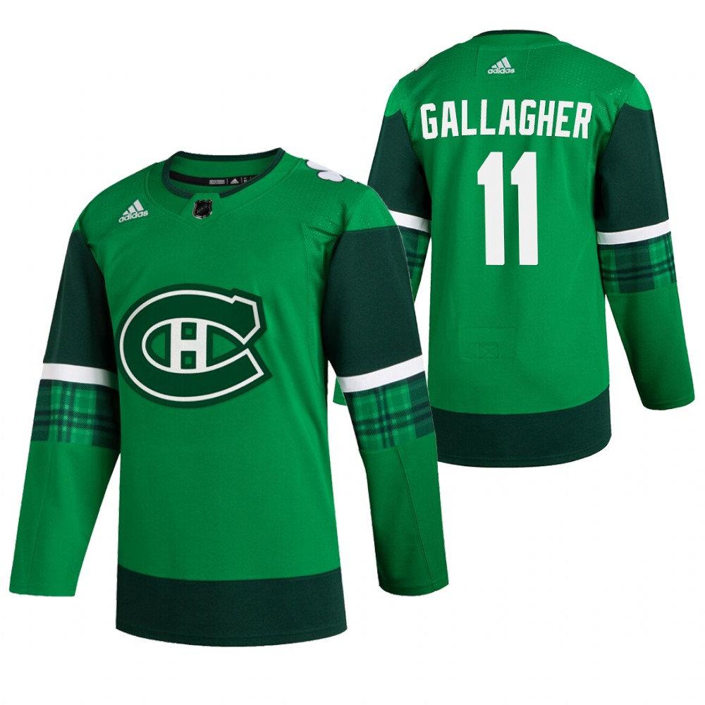 Canadiens 11 Brendan Gallagher Green 2020 Adidas Jersey