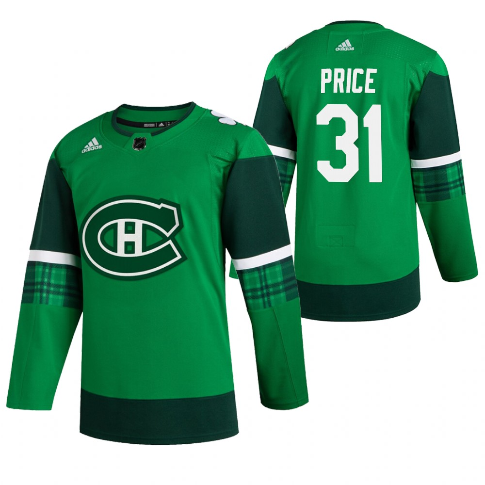 Canadiens 31 Carey Price Green 2020 Adidas Jersey