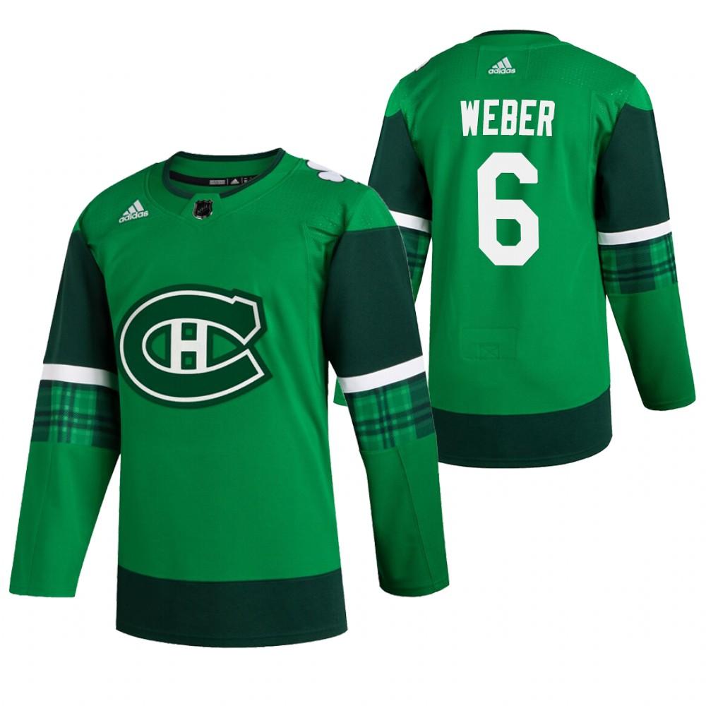 Canadiens 6 Shea Weber Green 2020 Adidas Jersey