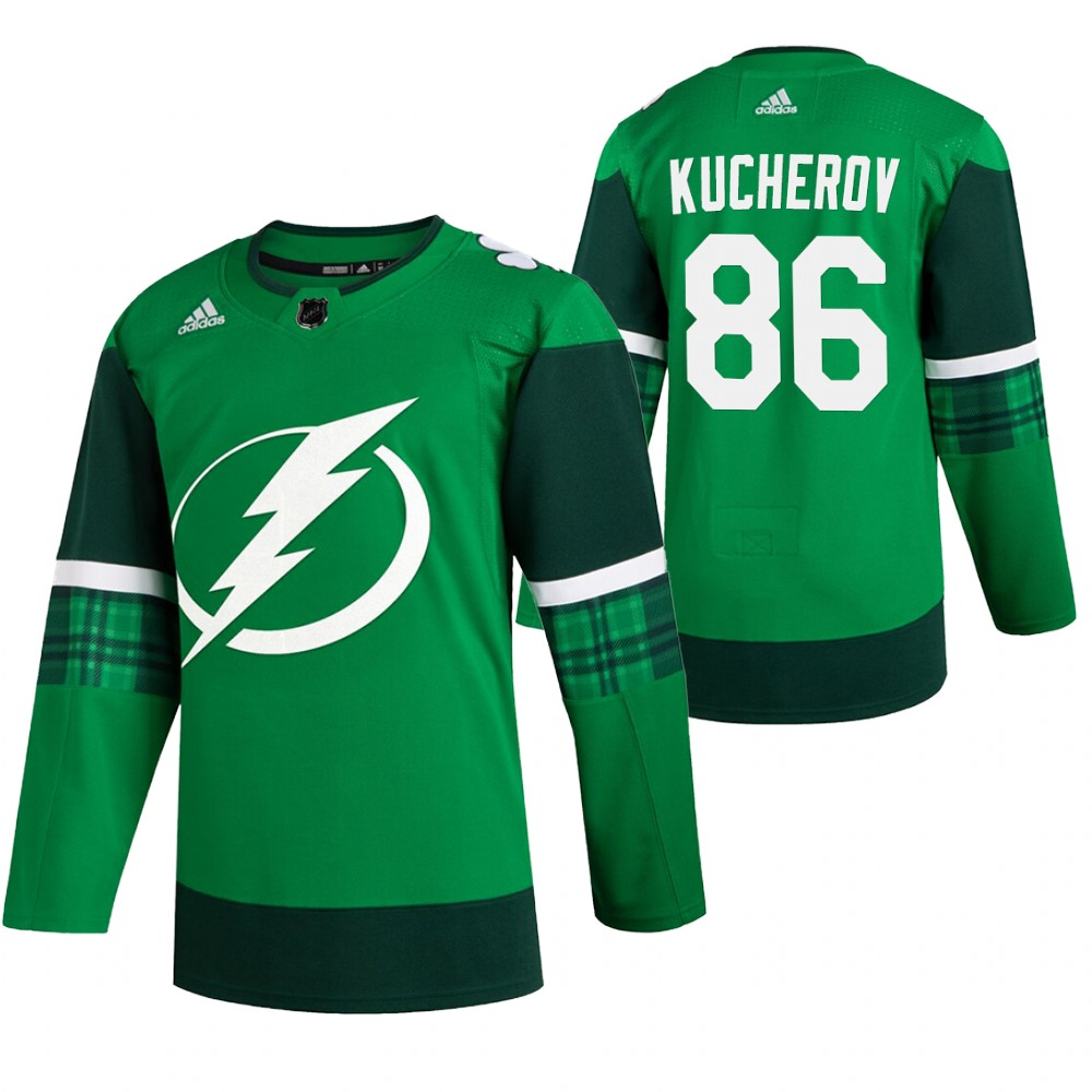 Lightning 86 Nikita Kucherov Green 2020 Adidas Jersey