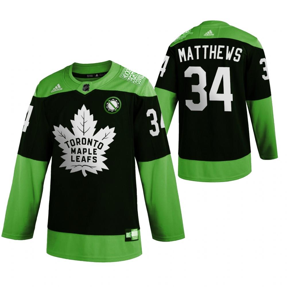 Maple Leafs 34 Auston Matthews Green 2020 Adidas Jersey