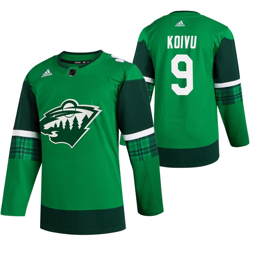 Wild 9 Mikko Koivu Green 2020 Adidas Jersey