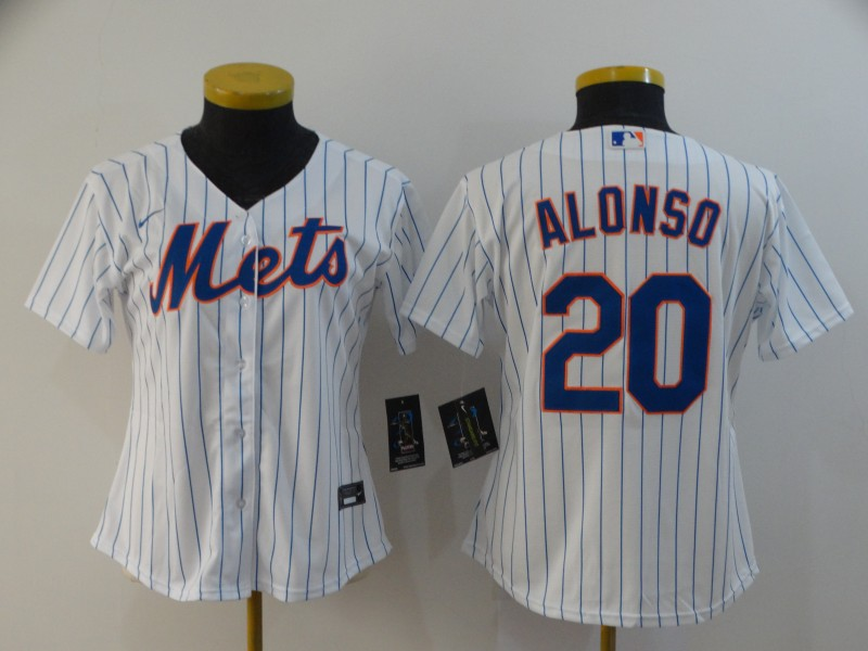 Mets 20 Pete Alonso White Women 2020 Nike Flexbase Jersey
