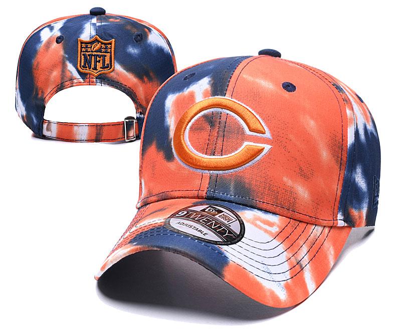 Bears Team Logo Orange Peaked Adjustable Hat YD