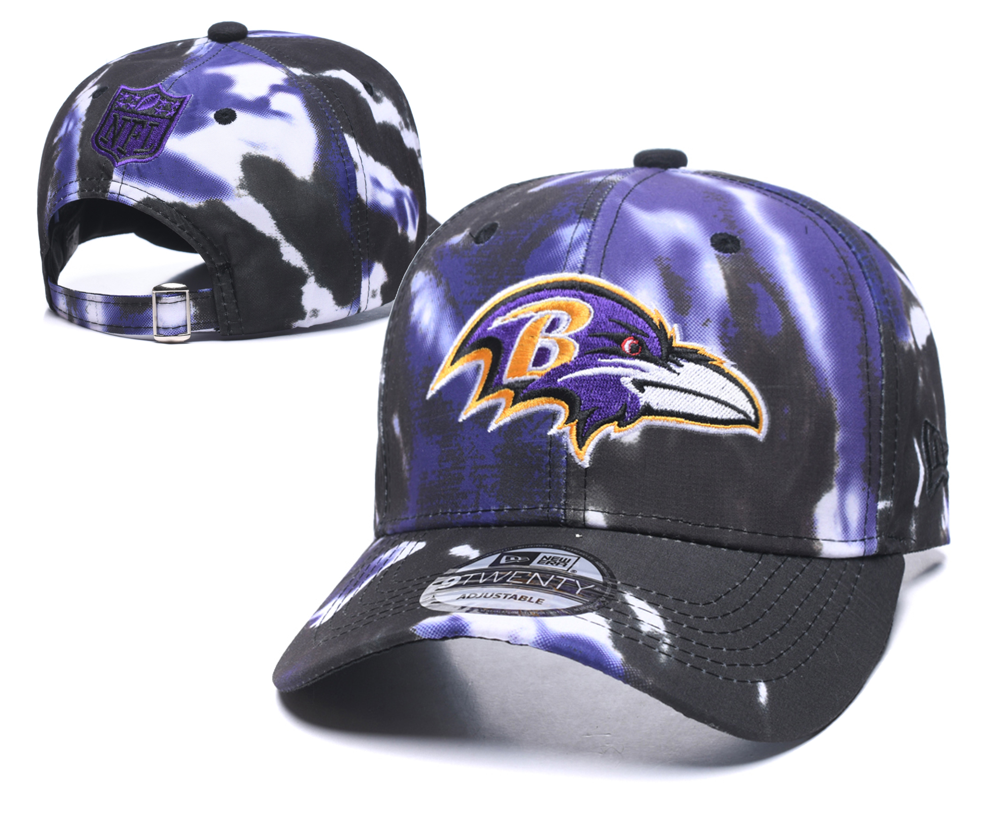 Ravens Team Logo Purple Peaked Adjustable Hat YD