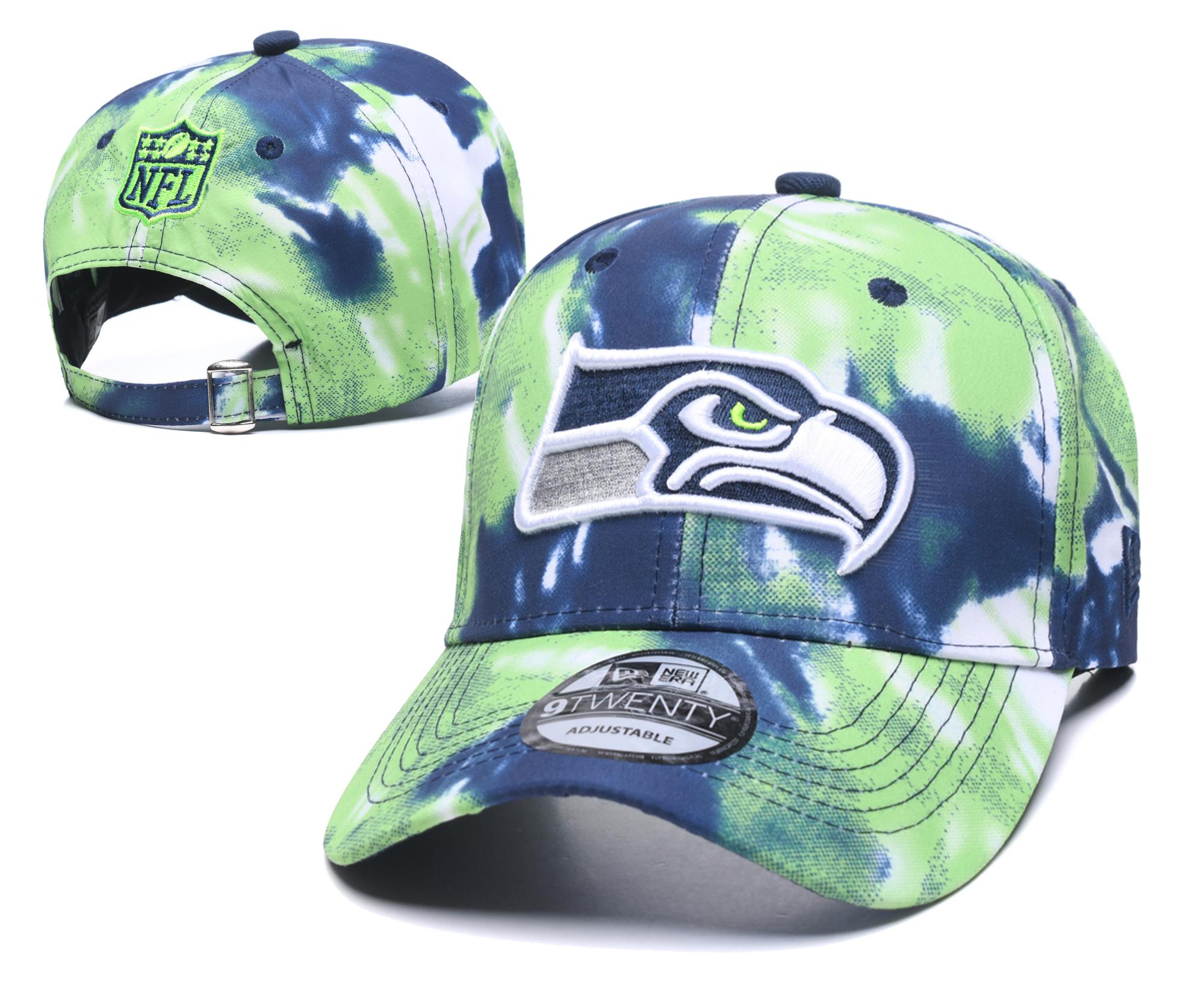 Seahawks Team Logo Orange Peaked Adjustable Hat YD