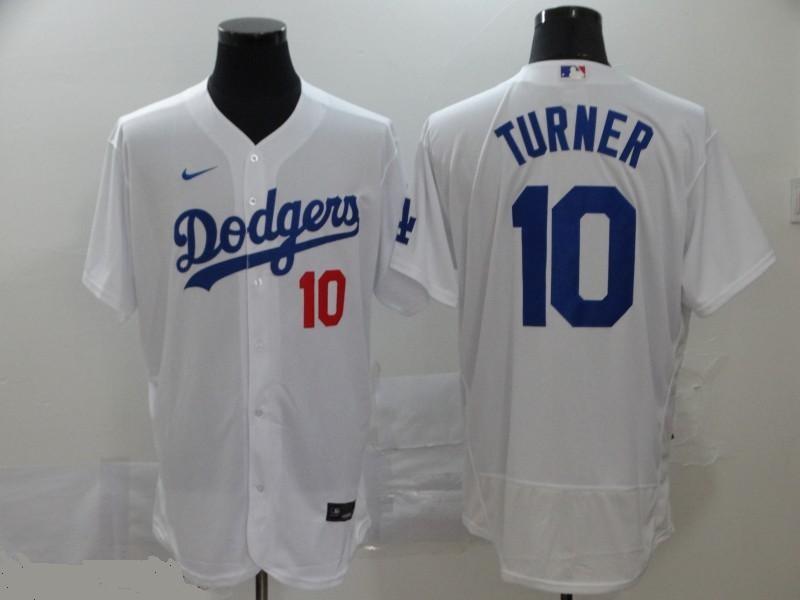 Dodgers 10 Justin Turner White 2020 Nike Flexbase Jersey