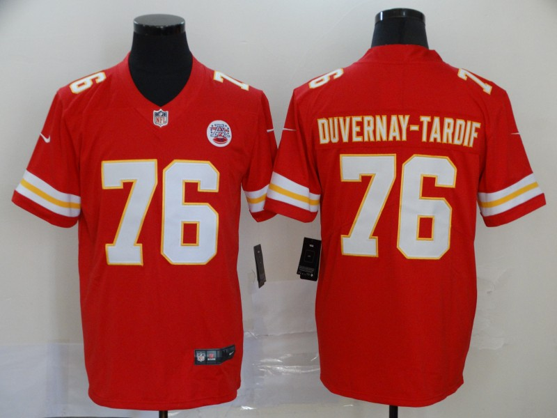 Nike Chiefs 76 Laurent Duvernay Tardif Red Vapor Untouchable Limited Jersey