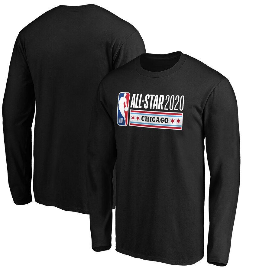 Fanatics Branded 2020 NBA All-Star Game Official Logo Long Sleeve T-Shirt Black