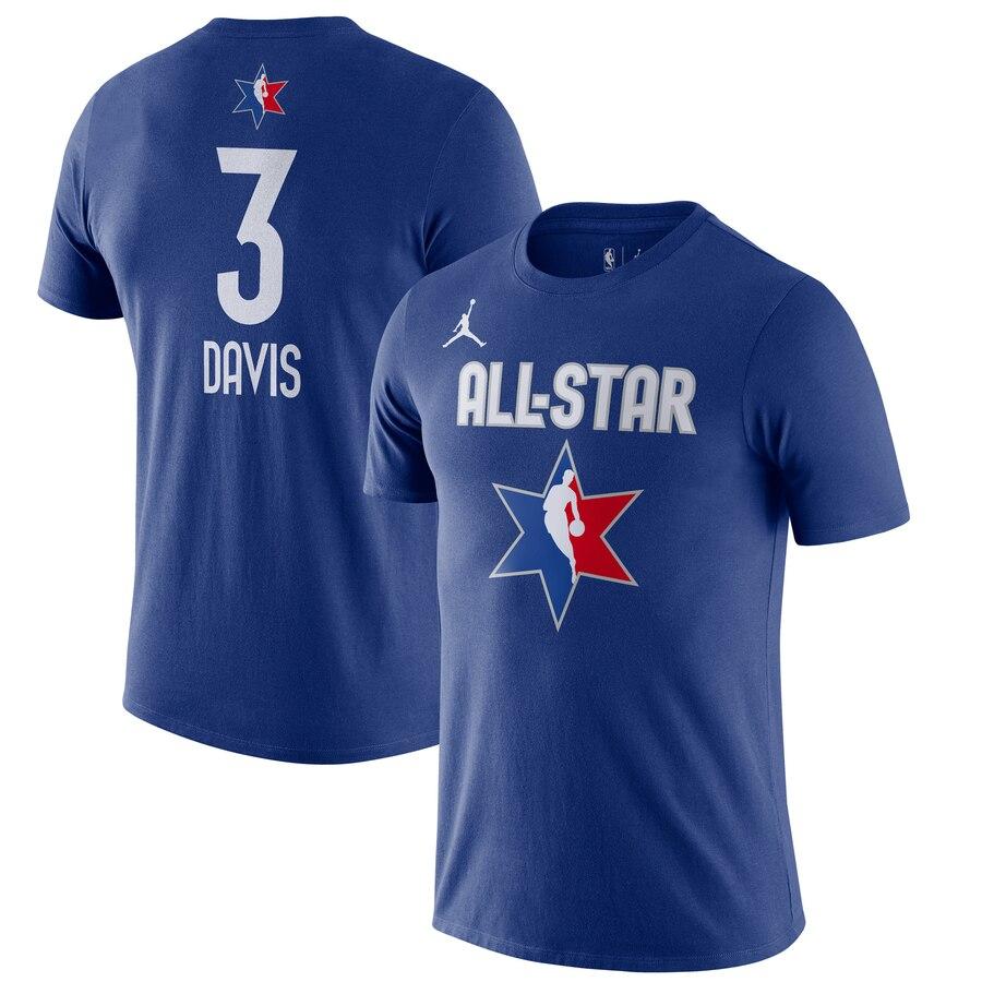 Anthony Davis Jordan Brand 2020 NBA All-Star Game Name & Number Player T-Shirt Blue