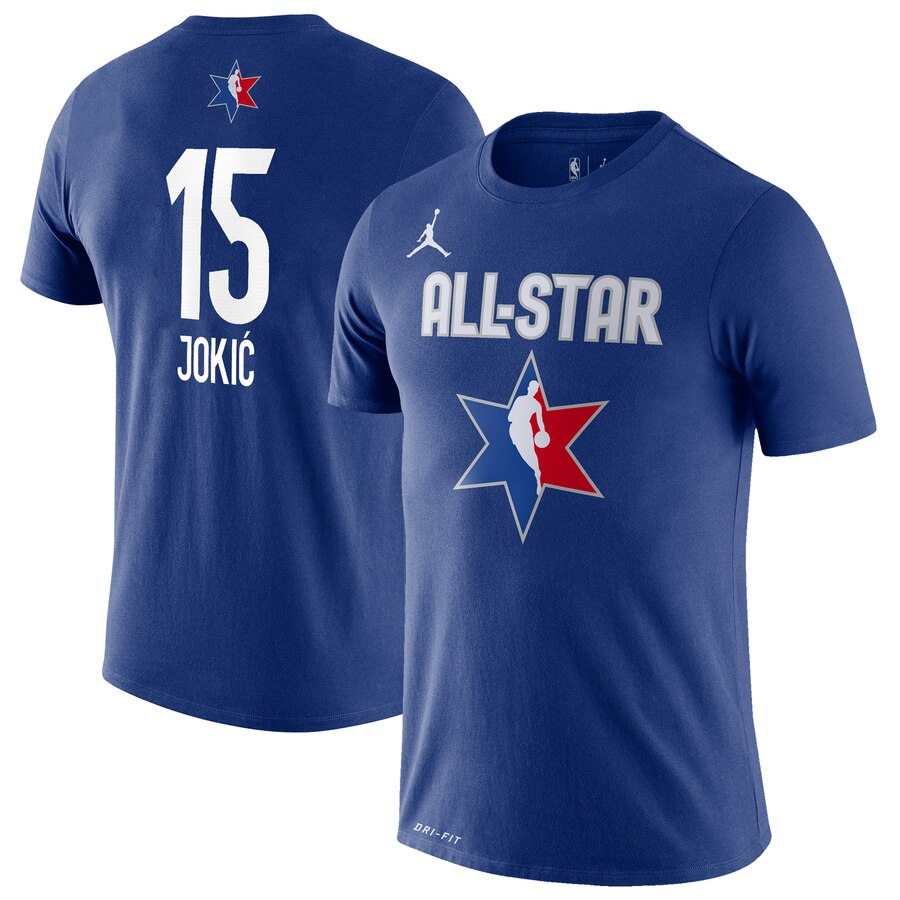 Nikola Jokic Jordan Brand 2020 NBA All-Star Game Name & Number Player T-Shirt Blue