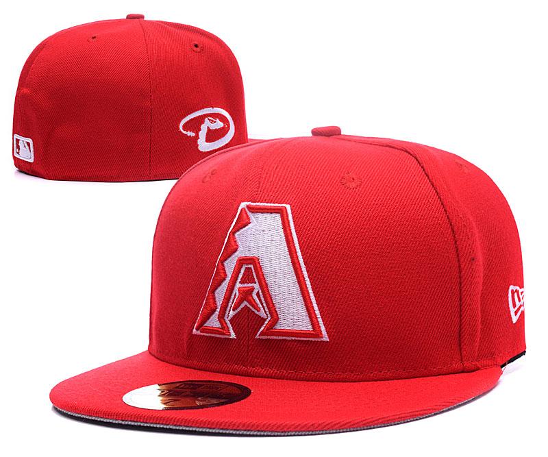 Diamondbacks Team Logo Red Fitted Hat LX