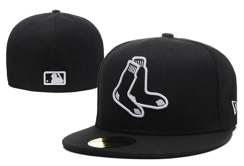 White Sox Team Logo Black Fitted Hat LX