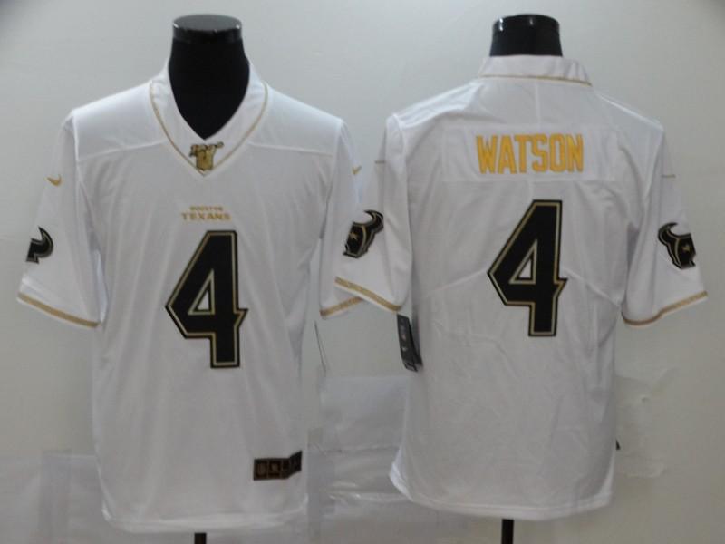 Nike Texans 4 Deshaun Watson White 100th Season Vapor Untouchable Limited Jersey