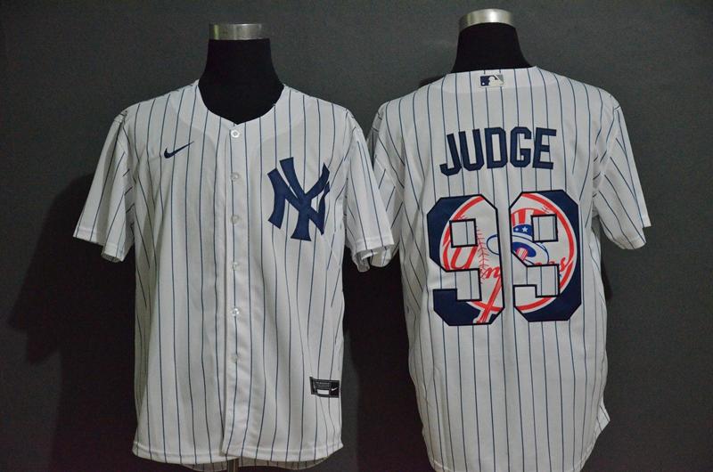 Yankees 99 Aaron Judge White 2020 Nike Cool Base Fashion Jersey