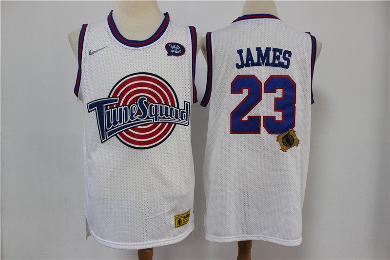 Tune Squad 23 Michael Jordan White Stitched Movie Jersey
