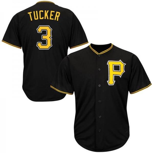 Pirates 3 Cole Tucker Black Cool Base Jersey