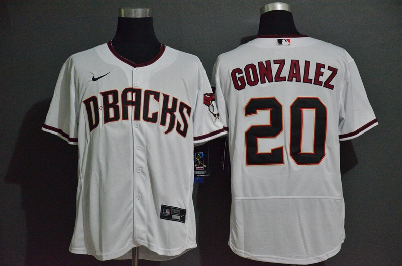 Diamondbacks 20 Luis Gonzalez White Nike 2020 Flexbase Jersey