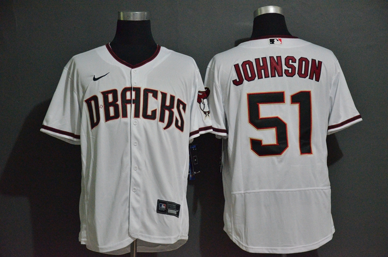 Diamondbacks 51 Randy Johnson White Nike 2020 Flexbase Jersey