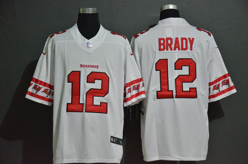 Buccaneers 12 Tom Brady White Team Logos Fashion Vapor Limited Jersey