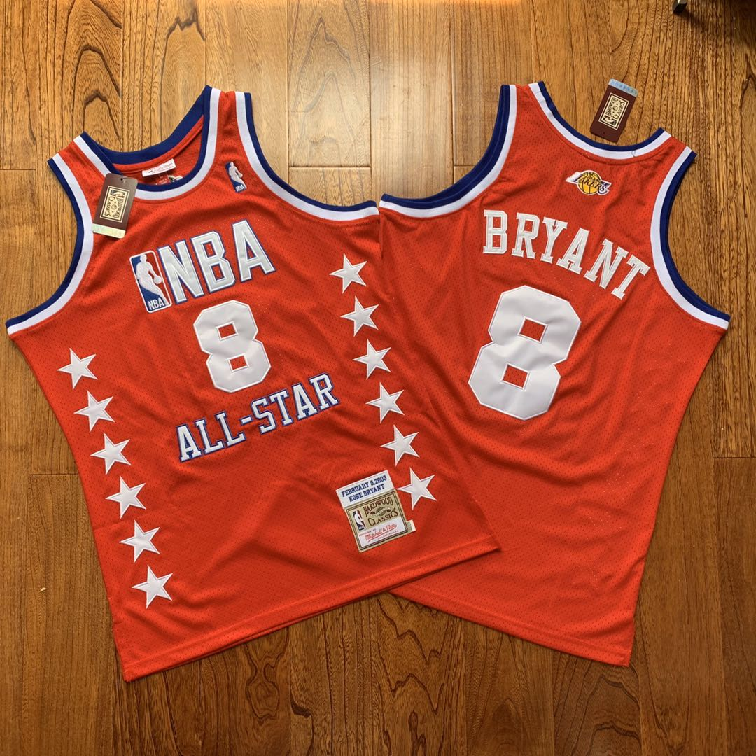 NBA 8 Kobe Bryant All Star Red 2003 Hardwood Classics Jersey