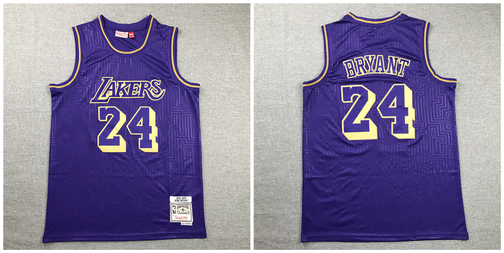 Lakers 24 Kobe Bryant Purple 1996-97 Hardwood Classics Jersey