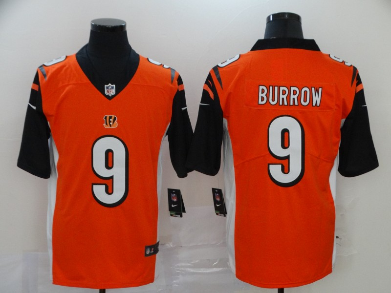 Nike Bengals 9 Joe Burrow Orange 2020 NFL Draft First Round Pick Vapor Untouchable Limited Jersey