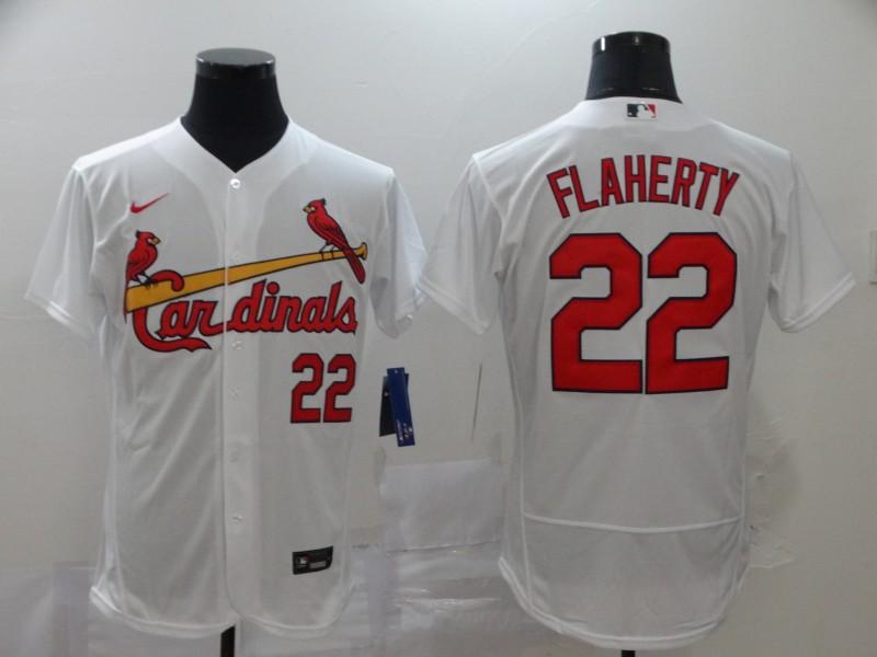 Cardinals 22 Jack Flaherty White 2020 Nike Flexbase Jersey