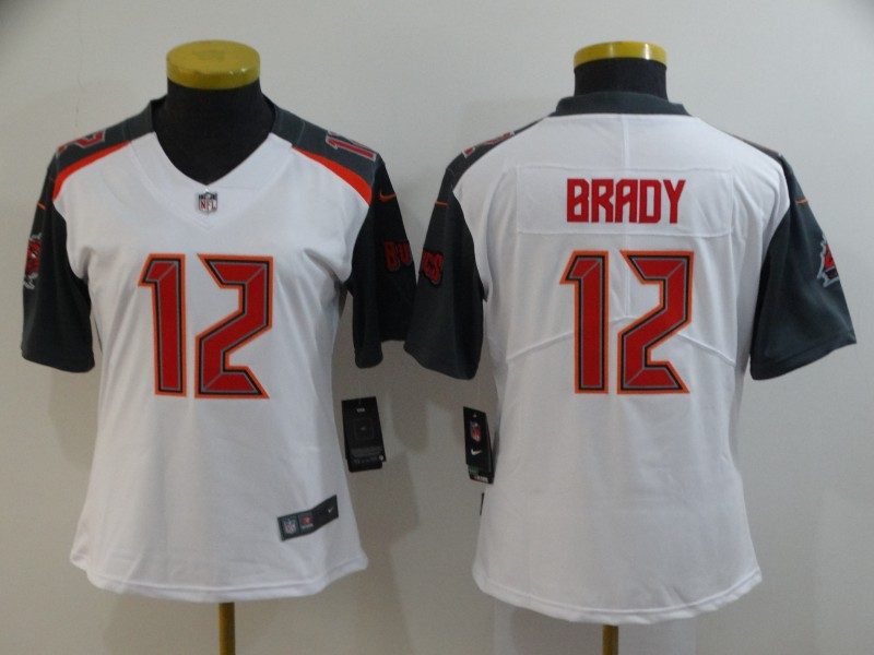 Buccaneers 12 Tom Brady White Women Vapor Untouchable Limited Jersey