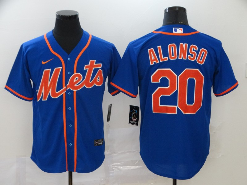 Mets 20 Pete Alonso Royal 2020 Nike Cool Base Jersey