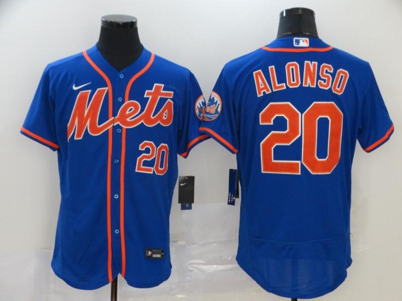 Mets 20 Pete Alonso Royal 2020 Nike Flexbase Jersey