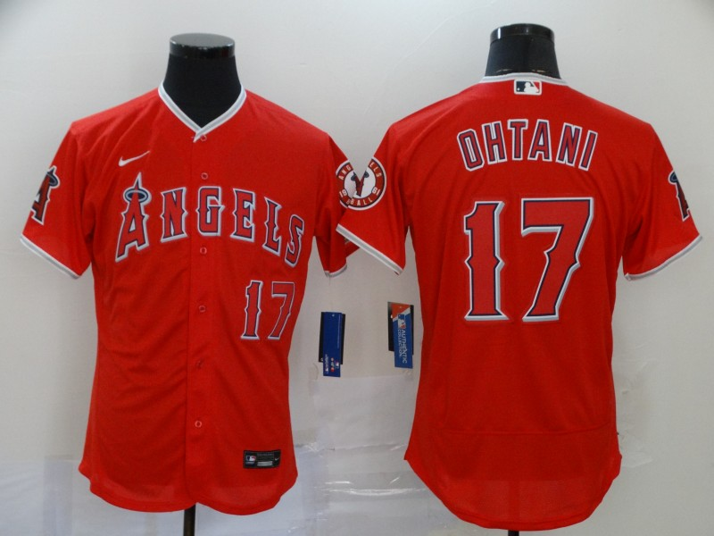 Angels 17 Shohei Ohtani Red 2020 Nike Flexbase Jersey