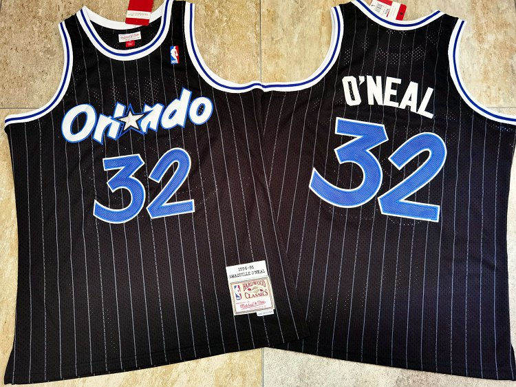 Magic 32 Shaquille O'Neal Black 1994-95 Hardwood Classics Jersey