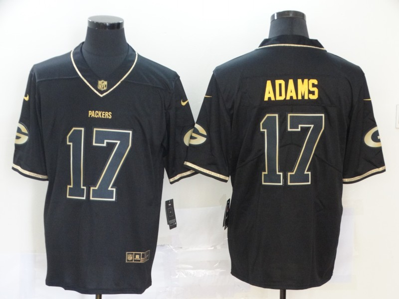 Nike Packers 17 Davante Adams Black Gold Vapor Untouchable Limited Jersey
