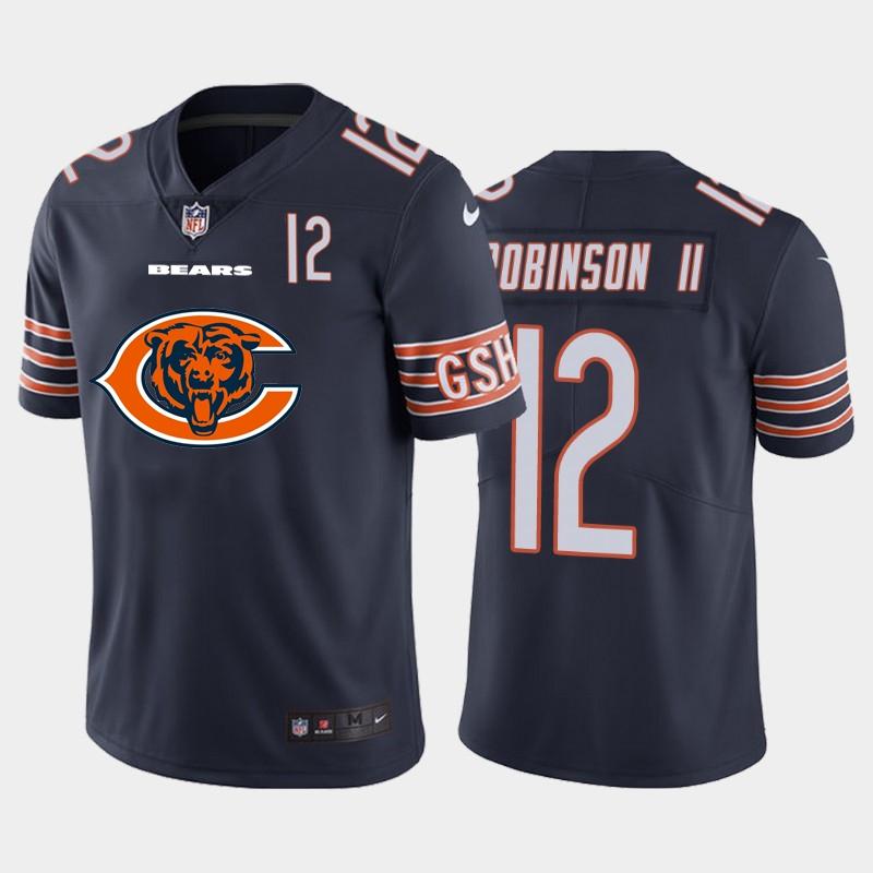 Nike Bears 12 Allen Robinson II Navy Team Big Logo Number Vapor Untouchable Limited Jersey