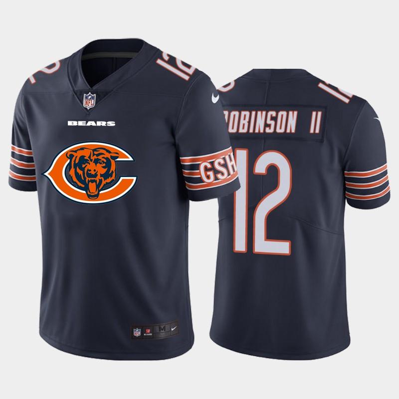 Nike Bears 12 Allen Robinson II Navy Team Big Logo Vapor Untouchable Limited Jersey