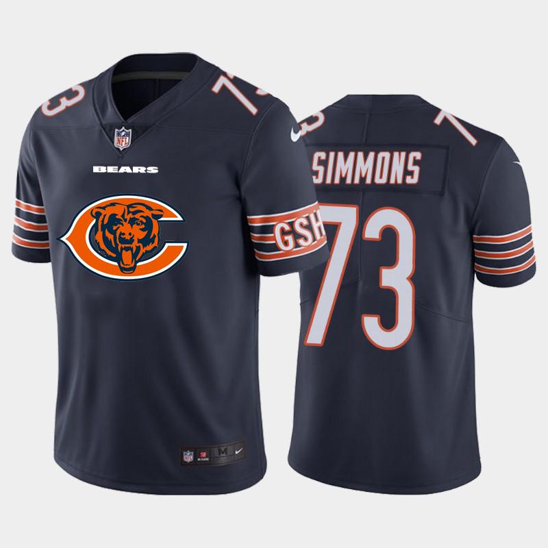 Nike Bears 73 Lachavious Simmons Navy Team Big Logo Vapor Untouchable Limited Jersey