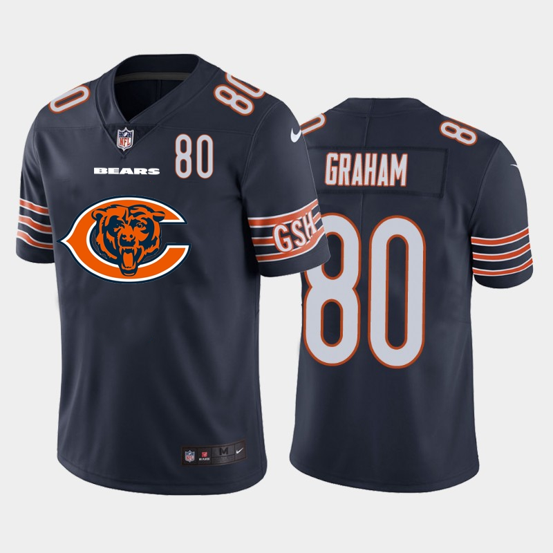 Nike Bears 80 Jimmy Graham Navy Team Big Logo Number Vapor Untouchable Limited Jersey