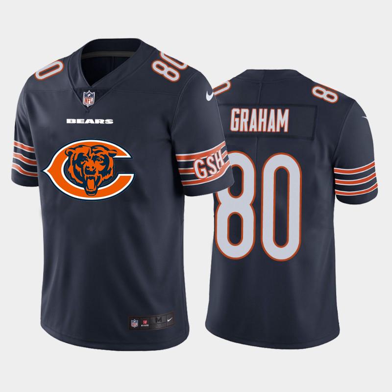 Nike Bears 80 Jimmy Graham Navy Team Big Logo Vapor Untouchable Limited Jersey