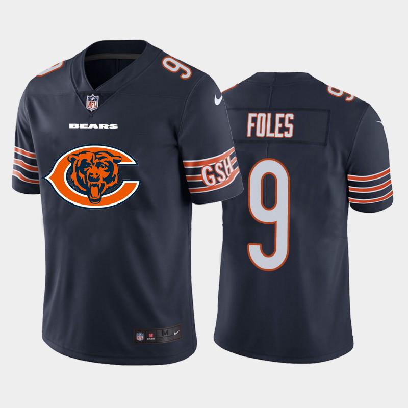 Nike Bears 9 Nick Foles Navy Team Big Logo Vapor Untouchable Limited Jersey