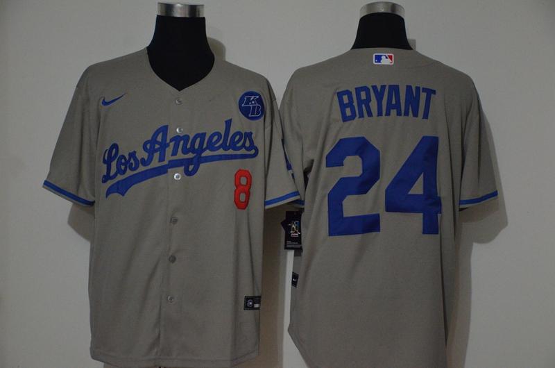 Dodgers 24 Kobe Bryant Gray 2020 Nike KB Cool Base Jersey