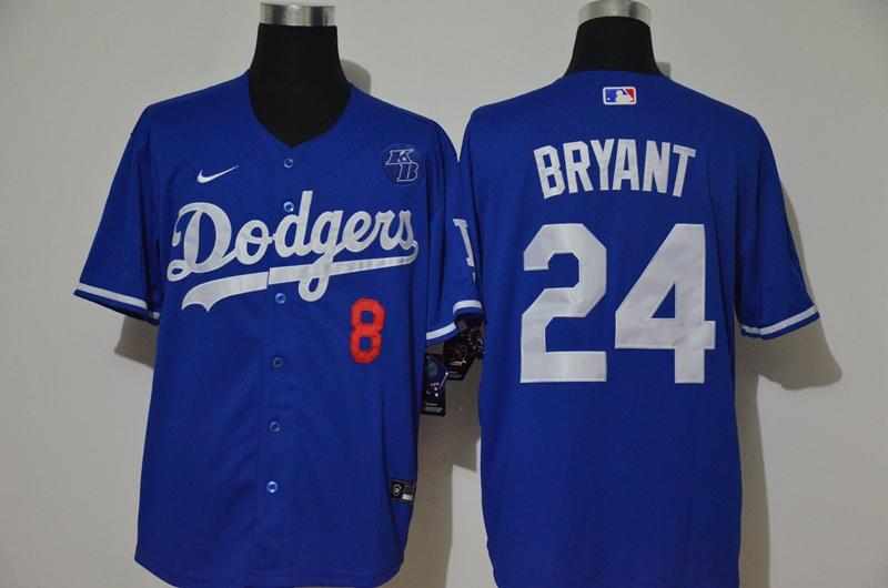 Dodgers 24 Kobe Bryant Royal 2020 Nike KB Cool Base Jersey